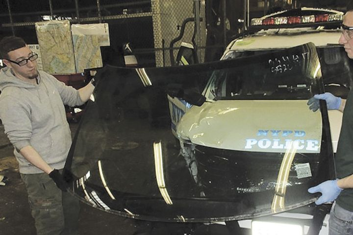 In the May 2020 riots more than 600 pieces of glass were smashed on NYPD vehicles, as more than 375 vehicles were damaged. Much of the replacement glass was salvaged from vehicles that the NYPD had removed from service because of wrecks. -