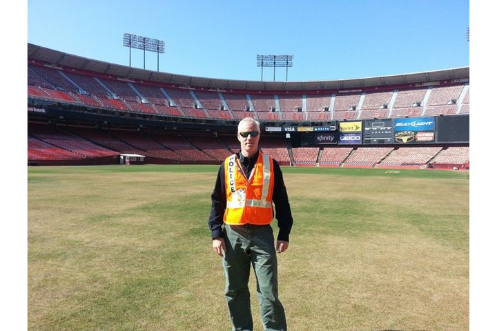The author at Candlestick Stadium during an Urban Shield exercise. -