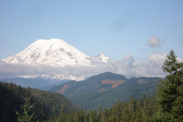 Mount Rainier is the tallest volcanic mountain in the contiguous United States, and due to the ever-increasing prospect of an eruption, it is considered one of the most dangerous volcanoes on the planet. Reaching its summit—and getting back down—is an appropriate metaphor for policing in America at the midway point of 2021. (Image courtesy of June Burton Wilson / Facebook) -