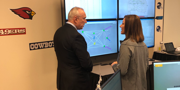 Retired Police Commissioner Bill Bratton alongside Verizon Director of Network Assurance...