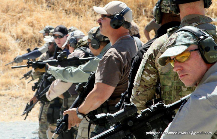 Because you have accepted me into your family, I've had the great fortune of receiving some of the best law enforcement training available. Here, I—far right in the frame—participate in excellent long gun training with Bay Area cops back in 2013.