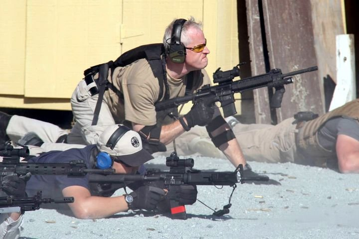 POLICE Magazine Contributing Web Editor participates in law enforcement patrol rifle training in late July 2012.