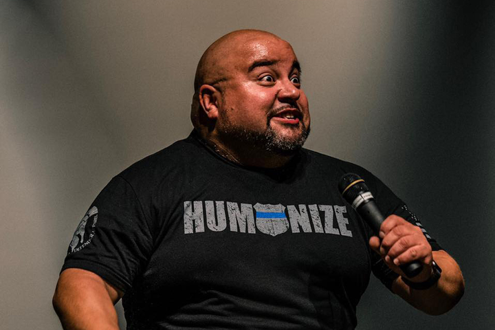 Commander Vinnie Montez—a 20-year veteran in law enforcement—got into comedy in 2007 with a trial performance at an open mic night at the Comedy Works in Denver and now does charity events as well as paid gigs.