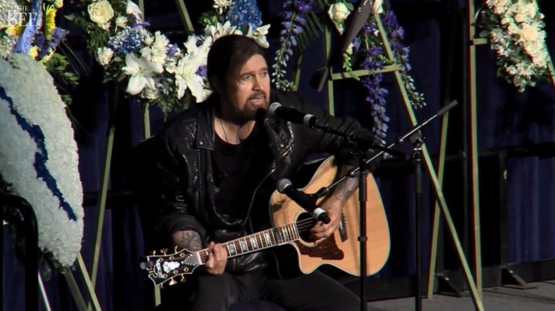 Country Star Billy Ray Cyrus Performs Song at Funeral of Fallen California Officer