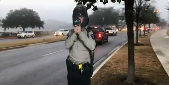 The Williamson County (TX) Sheriff's Office has deployed life-sized cardboard cutouts of officers holding radar guns in an effort to reduce speeding on surface streets.