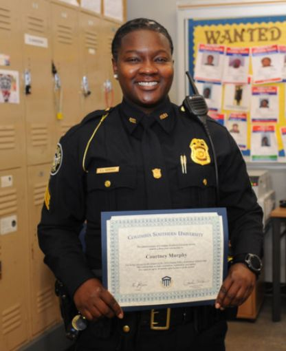 Atlanta Police Officer Courtney Murphy has been awarded a scholarship to study for her master's degree through Columbia Southern University. (Photo: CSU)  -