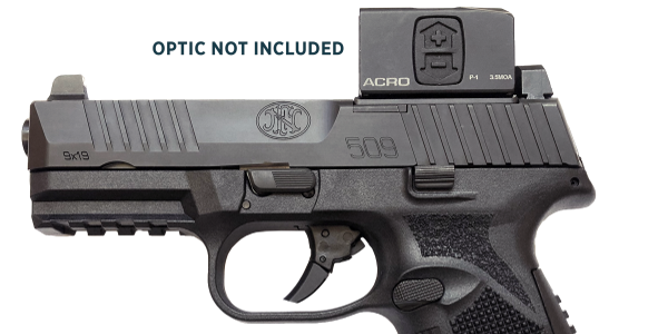 The FN 509 MRD is an optics-ready duty gun. Here it is fitted with Aimpoint's ACRO P-1, which...