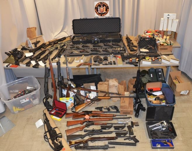 A New York law enforcement officer was charged with selling firearms to people who are not legally allowed to buy them. (Photo: New York State Police)  -