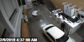 Woman Crashes Car Into California Police Department Lobby