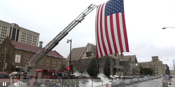 Flag honoring Milwaukee tactical officer killed Wednesday morning while serving a warrant....