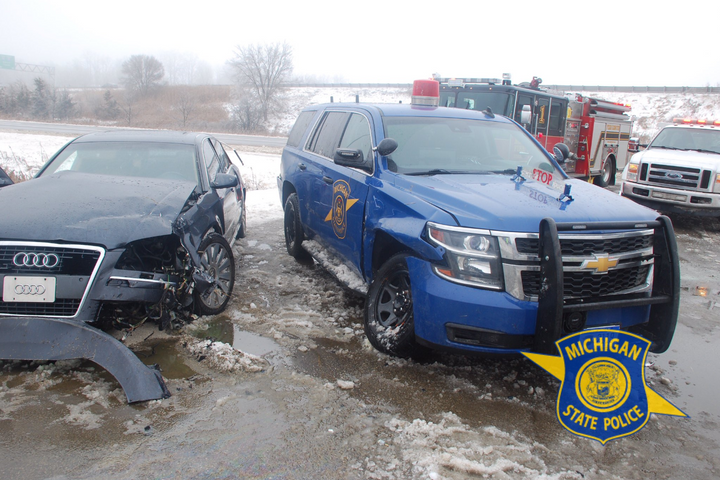 According to reports, at least a dozen Michigan State Police vehicles have been struck so far this year.