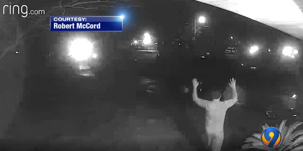Surveillance video from Robert McCord's home show the occupants' interactions with Myrtle Beach,...