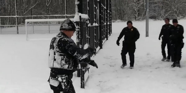Officers with the Duvall (WA) Police Department took some time during Monday's inclement weather...