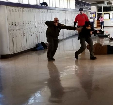 The Glenn County Sheriff's Office in California's Central Valley conducted its annual active shooter response training in an area high school over the weekend. The Orland Police Department and Willows Fire Department also participated in the drills, as well as dozens of volunteers who acted as role players in the scenarios.  - Image courtesy ofGlenn County Sheriff's Office / Facebook.