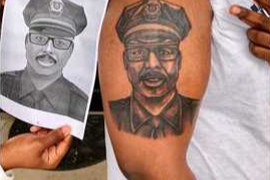 Fallen SC Officer's Son Gets Tattoo to Honor Father