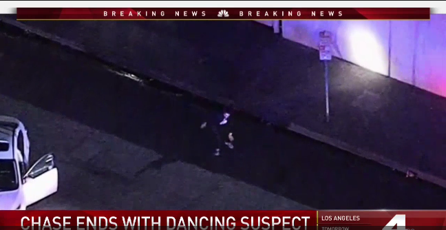 Video: CA Pursuit Ends with Suspect Dancing