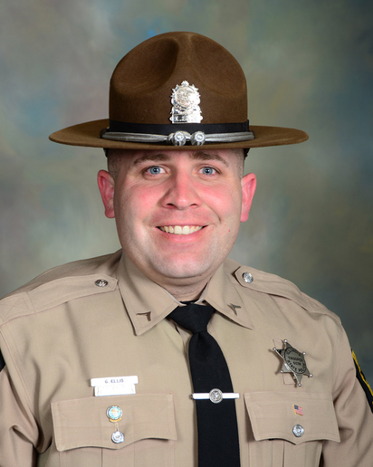 According to an announcement the agency posted to Facebook, 36-year-old Trooper Gerald Ellis was transported to a local area hospital with life-threatening injuries. He died shortly thereafter.