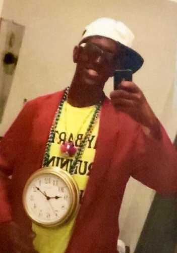 A University of Missouri police officer was fired Tuesday when a photo of him wearing blackface makeup while dressed as rapper Flava Flav was submitted to the school's top officials. (Photo: University of Missouri)
