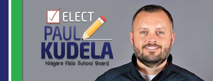 Paul Kudela—who has worked as a patrol officer for the department and is currently a detective—said that his background as a former teacher in the Niagara Falls City School District will allow him to make informed decisions that enhance the quality of education for all students.
