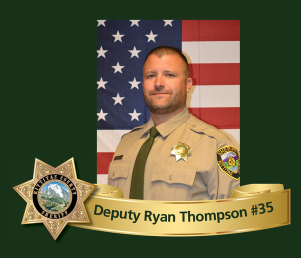 Kittitas County (WA) Sheriff's Deputy Ryan Thompson was killed Tuesday night in a gunfight with a road rage suspect. The suspect, who was killed, was in the US illegally. (Photo: Kittitas County SO)
