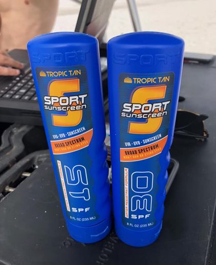 """The Okaloosa County (FL) Sheriff's Departmentposted to its Facebook page a picture of seized two flasks that looked every bit as real as sunscreen as possible, adding the caption, """"Spring Break fact: Hiding vodka in a sunscreen bottle only works if you don't let a Deputy see you drink out of it.""""    - Image courtesy of Okaloosa County Sheriff's Department/ Facebook."""