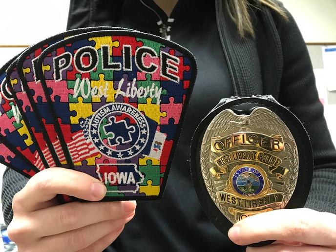 The West Liberty (IA) Police Department is selling special edition Autism Awareness patches in order to raise awareness about Autism in America. The department is making this effort in advance of World Autism Awareness Day is Tuesday April 2nd, 2019.