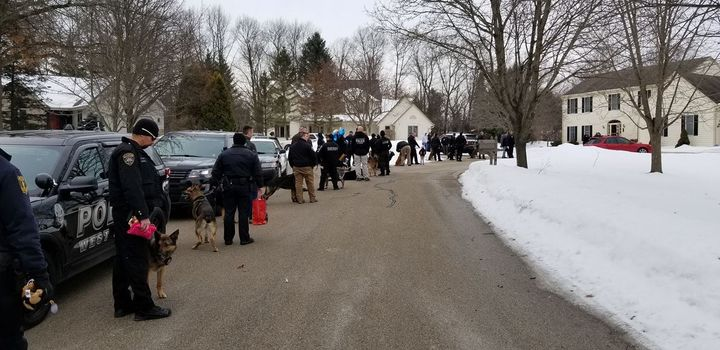 "The Hartford (WI) Police Department posted to Facebook, ""Today, just a few of us (roughly 40) stopped by to see Emma. She had no idea we were coming so she was VERY excited. What an amazing and strong little girl. It was such a great morning. #teamemma.""