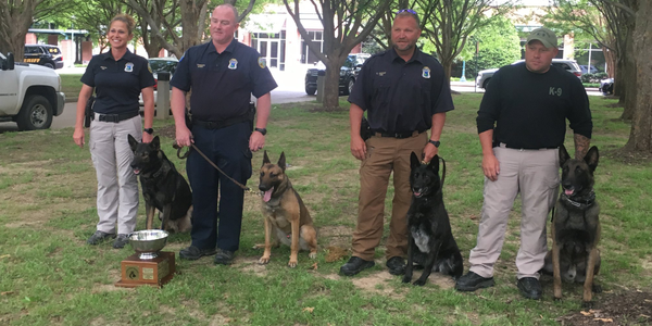 "Officer Timmons and K-9 ""Burt"" earned Overall Top Dog which means they earned the most points in..."