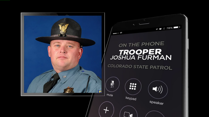 Colorado State Patrol Trooper Joshua Furman pushed 17-year-old Isabel Witter's disabled vehicle from I-70 right before a semi truck barreled onto the scene smashing into multiple vehicles and triggering an explosion. (Photo: KDVR Screen Shot)
