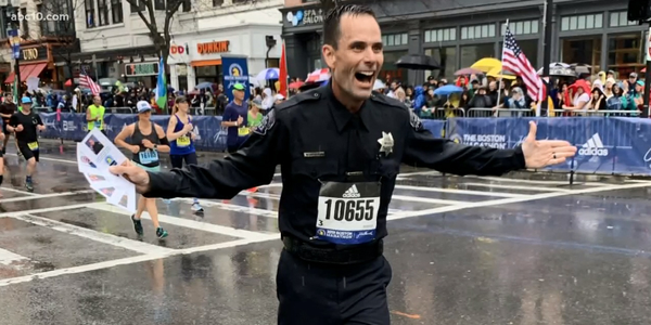 California Officer Runs Boston Marathon in Full Uniform to Honor Fallen Officers