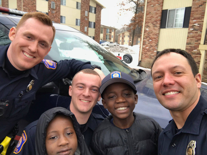 Officer Lynema learned that it was Thomas Daniel's birthday, and that because the boy was bullied at school, he feared that nobody would show up to his birthday party that afternoon. The boy was right. No children were in attendance for the festivities, but Officer Lynema was.
