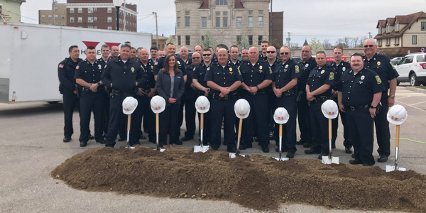 Officials in Huntington, Indiana gathered on Wednesday with members of that city's police...