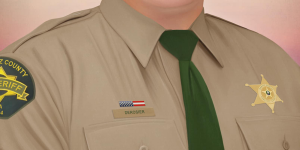 The most recent piece of art produced by Jonny Castro is of Deputy Justin DeRosier of the...