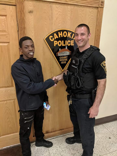 "Francella Jackson—an assistant to the mayor of Cahokia—posted several images on Facebook, saying in part, ""On behalf of Mayor Curtis McCall Jr., I would like to thank Officer Gemoules for showing compassion and being a great example of how community oriented policing actually works.""