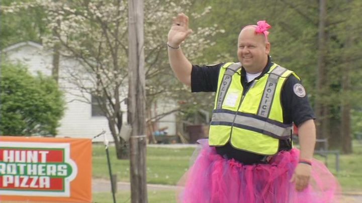 Lebanon Junction, KY, Police Chief Terry Phillips told the school's archery class if the students could raise their target score up to 200, he would wear a dress or tutu while outside directing traffic.