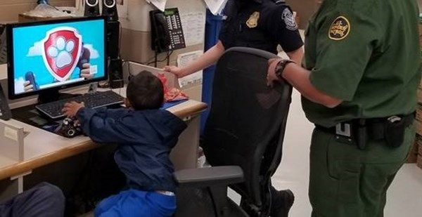 U.S. Border Patrol agents rescued a 3-year-old migrant boy after he was found Tuesday abandoned in a Texas cornfield with his name and a phone number written on his shoes. (Photo: U.S. Customs and Border Protection)