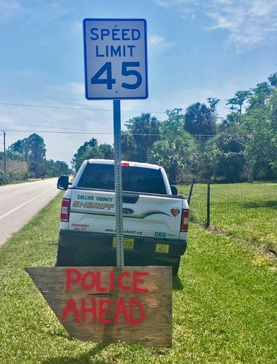 "The agency said on Facebook, ""Well played, Anonymous Sign Artist. Well played.""