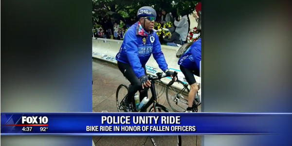 Davis first rode in the Police Unity Tour in honor of his father, who was killed in the line of...