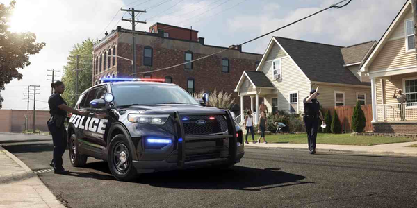 The 2020 Ford Police Utility Interceptor comes standard with hybrid engine and AWD. (Photo: Ford)