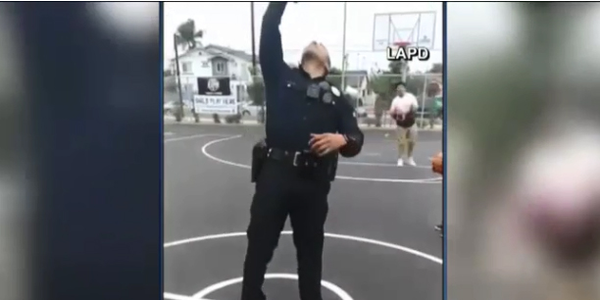 Video: California Officer Impresses Social Media Fans With Trick Basketball Shot