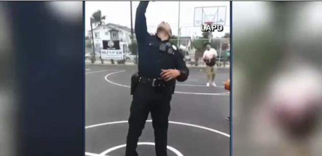 Video: California Officer Impresses Social Media Fans With Trick Basketball Shot