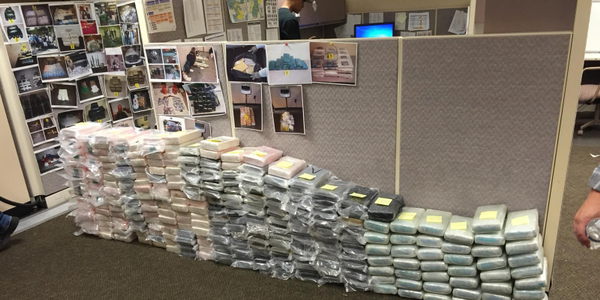 """These bundles of drugs were seized as part of """"Operation Colombian Cargo."""""""