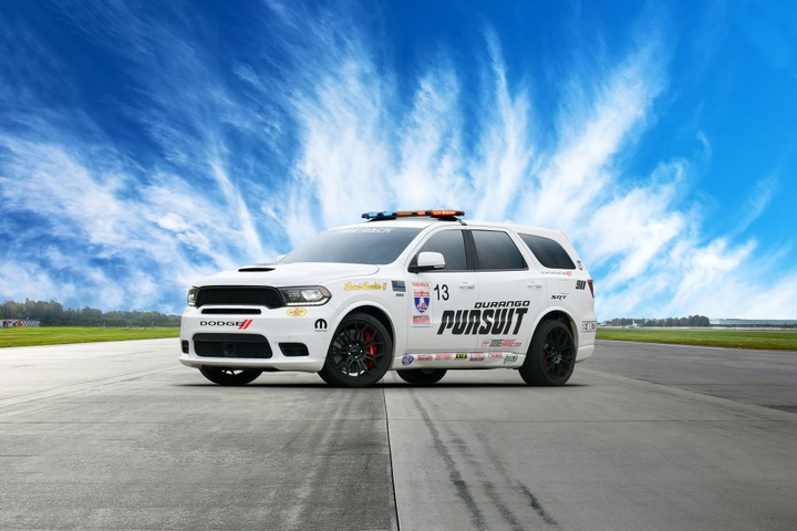 The concept vehicle, nicknamed Speed Trap, is based on the Dodge Durango Pursuit.