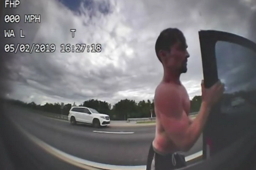 Video: Shirtless FL Man Steals Highway Patrol Car, Leads Police on High-Speed Chase