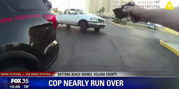 Video: Florida Officer Nearly Struck by Vehicle During Traffic Stop