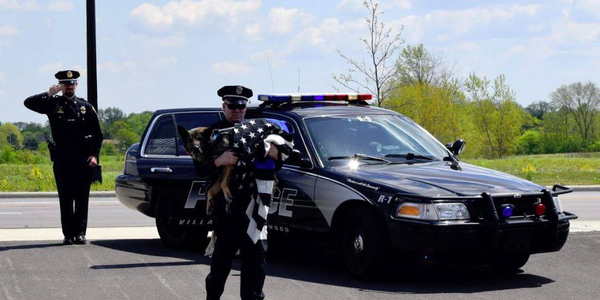 "Video: Dozens Gather for Ohio K-9's ""Final Walk"" to the Vet"