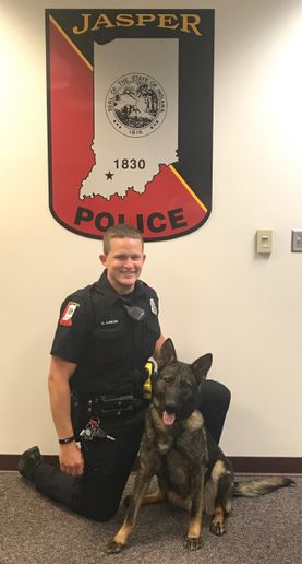 Officer Brent Duncan and K-9 Mack. 