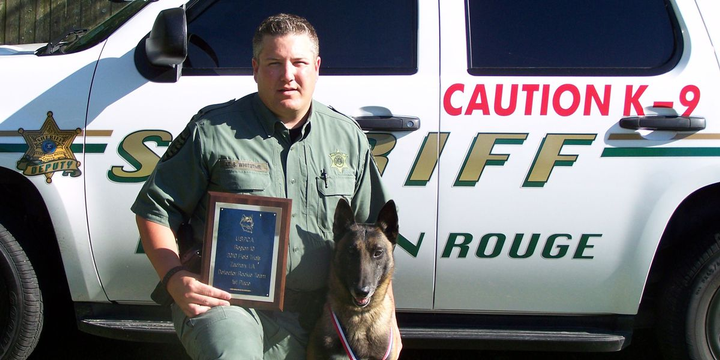 Deputy Steven Whitstine, 42, was killed on his way to work when his unit veered off the road and crashed.  - Photo: East Baton Rouge Parish Sheriff's Office