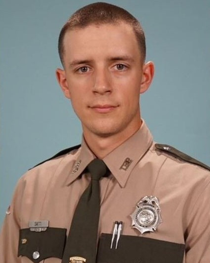 Trooper Mathew Gatti was responding to a report of a car fire when he lost control of his patrol vehicle and collided with a tractor-trailer truck.
