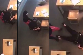 Video: Suspect Disarms Texas Officer, Holds Her at Gunpoint During Robbery